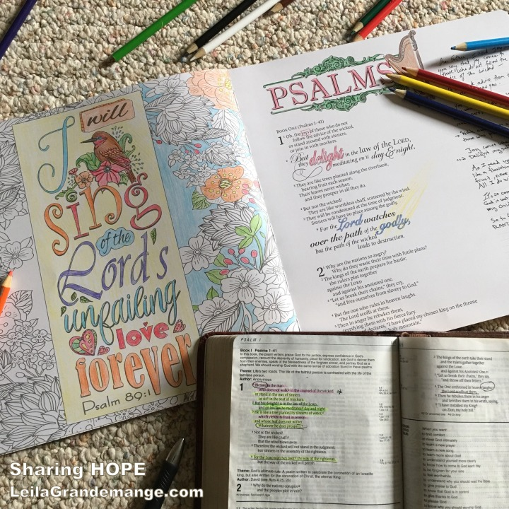 How Coloring Helps Me To Meditate on God's Word