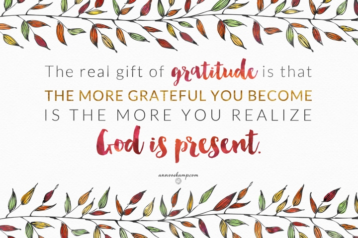 Thanksgiving, gratitude, God