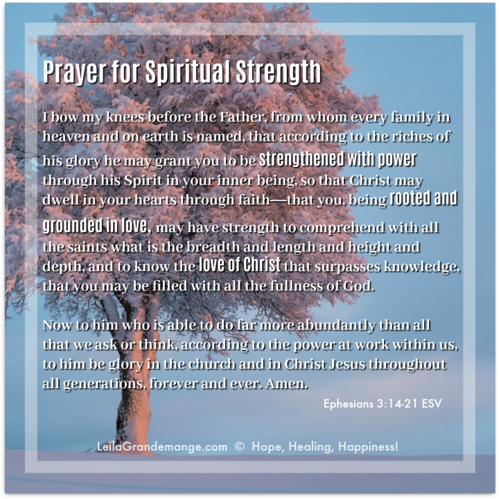 Prayer for Strength from Ephesians 3:14-21 [quote image]