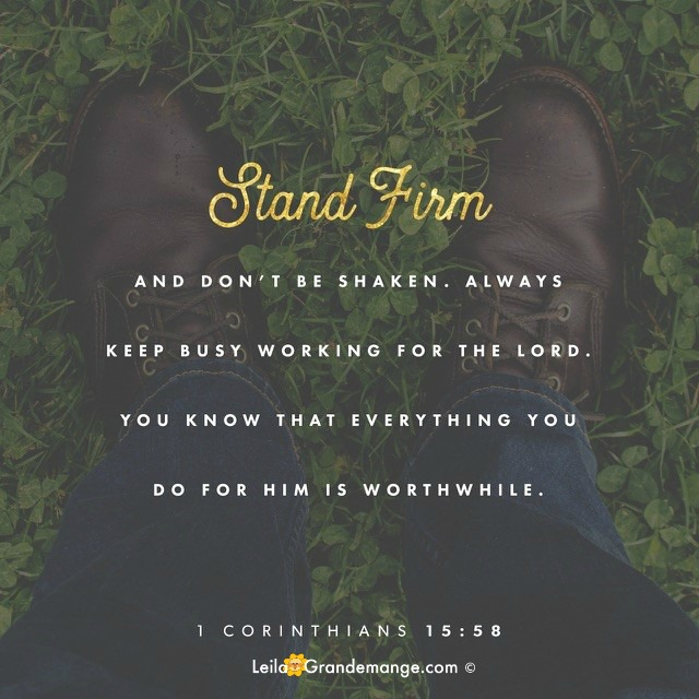 Stand firm, image quote