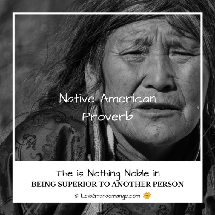 Native American Proverb
