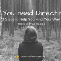 Do You Need Direction? [3 Steps to Help You Find Your Way based on Proverbs 3]
