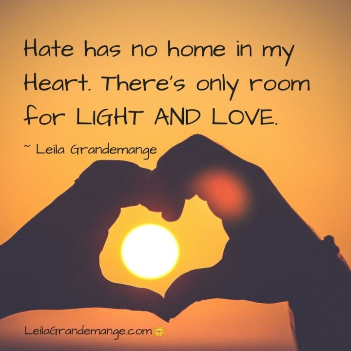 There S No Room In My Heart For Hate