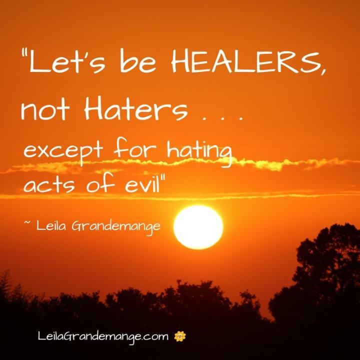 Hate evil