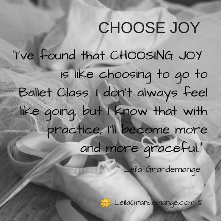 Choose joy (quote)