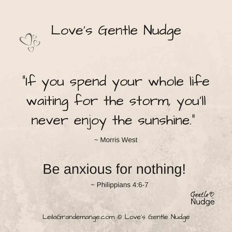 A Gentle Nudge [ Not To Worry ]