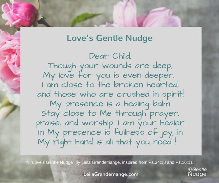 God's healing touch
