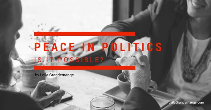 Peace in Politics, is it possible?