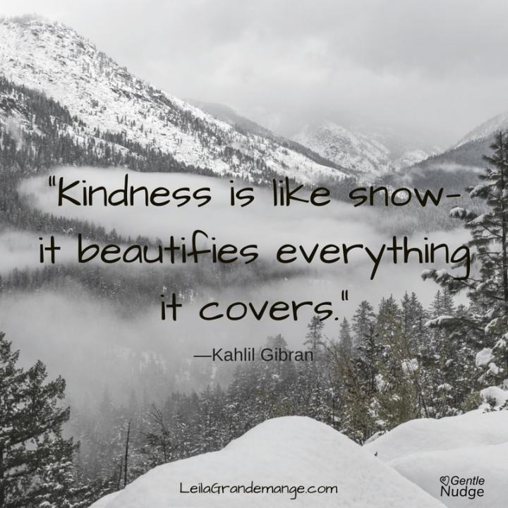 Kindness is like snow ...