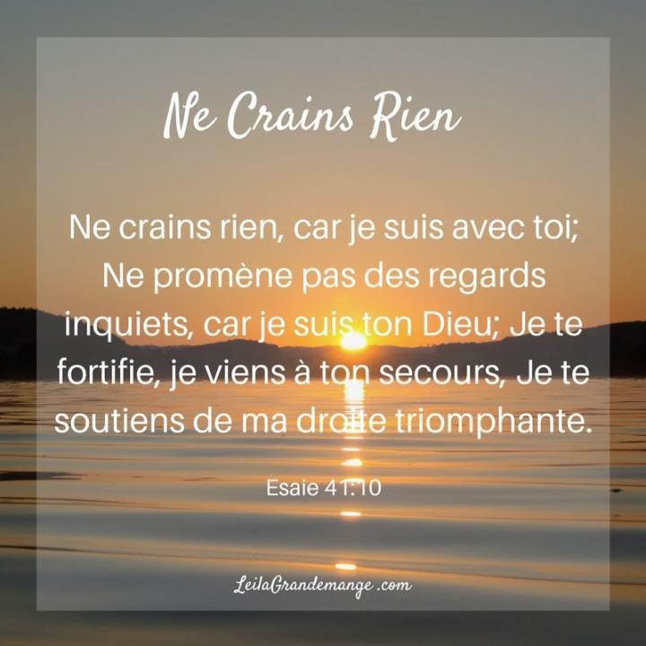 Ne Crains Rien— Esaie 41:10