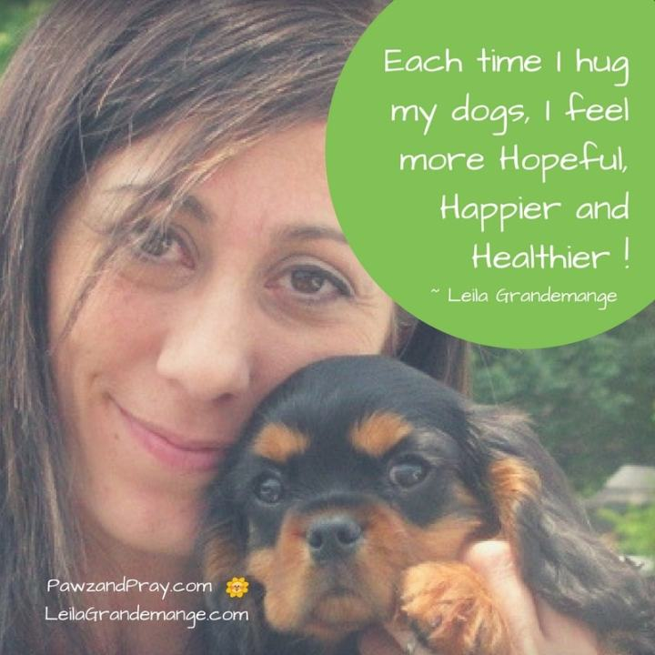 Hugging my dog makes me feel happier! [blog post]
