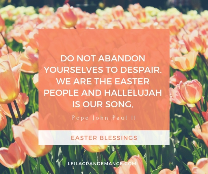 Easter Quote image Pope John Paul ll