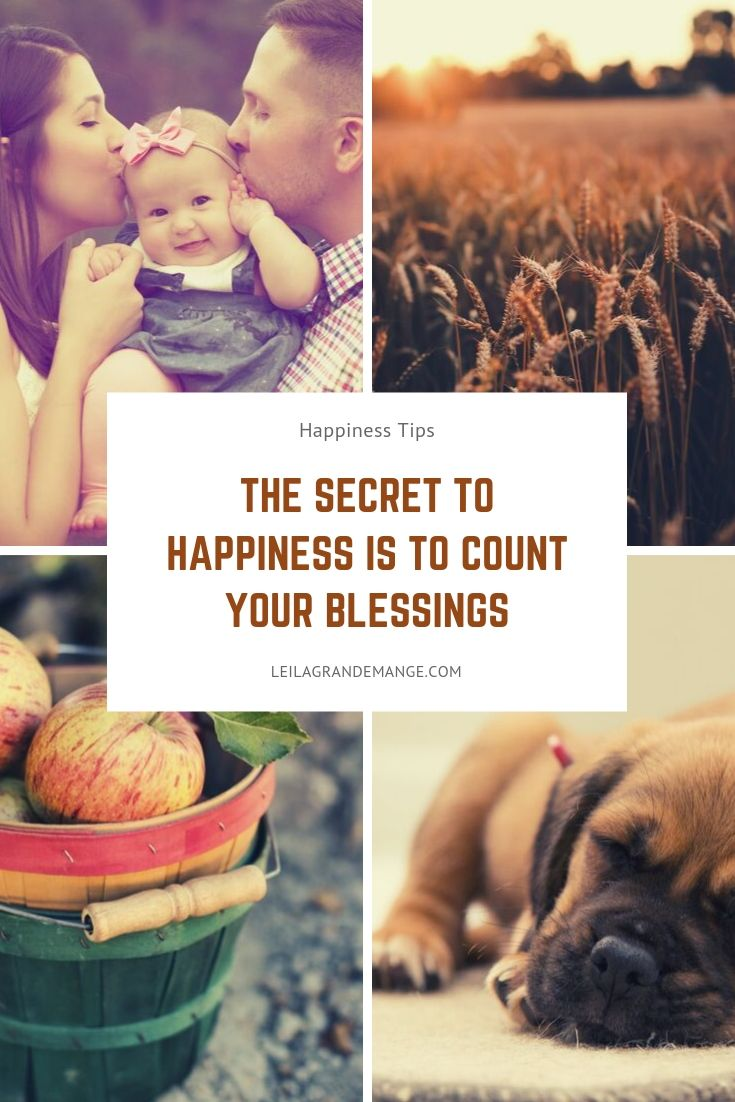 Happiness Tip: Count Your Blessings Not Your Sorrows