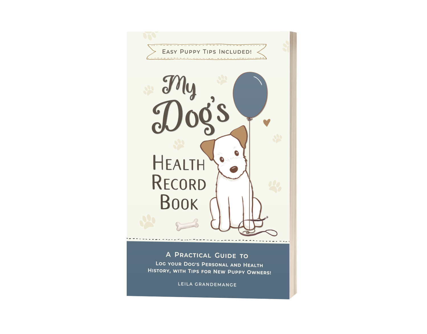 Puppy Training Guide and Pet Record Keeping Book